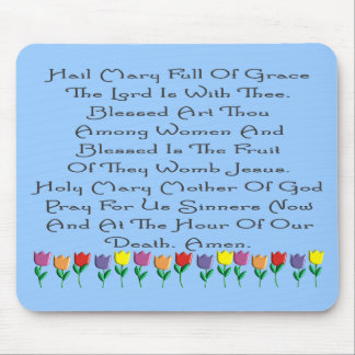 Hail Mary Catholic Prayer Gifts & Cards Mouse Pad