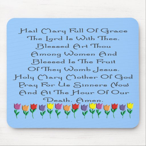 Hail Mary Catholic Prayer Gifts & Cards Mouse Pads