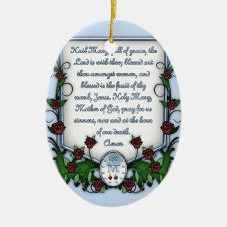 Hail Mary Christmas Ornament