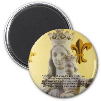Hail Mary full of grace Magnets