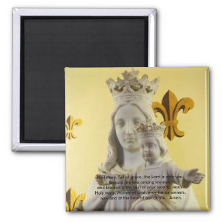 Hail Mary, full of grace Square Magnet