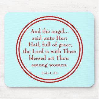 """Hail Mary """"Luke 1:28"""" Mouse Mat"""