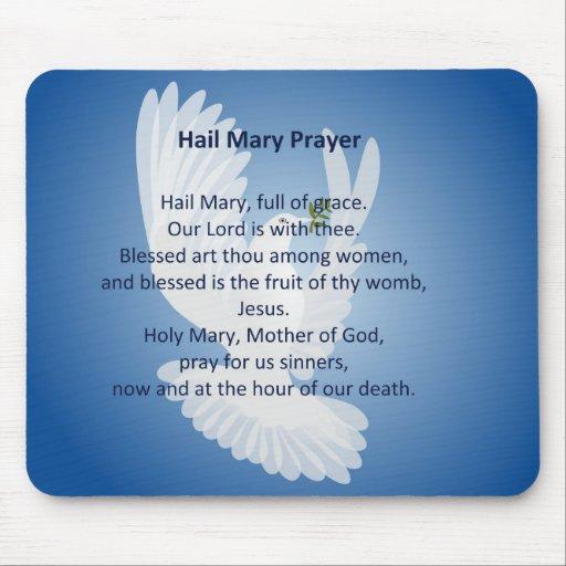 Hail Mary Prayer Mouse Pad