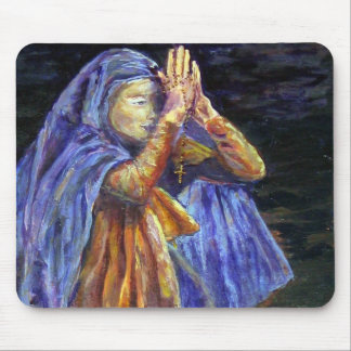 Hail Mary Rosary painting Art Mouse Pad