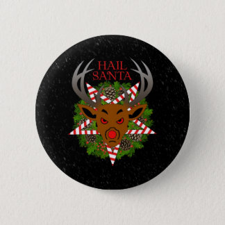 Hail Santa 6 Cm Round Badge
