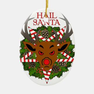 Hail Santa Christmas Ornament
