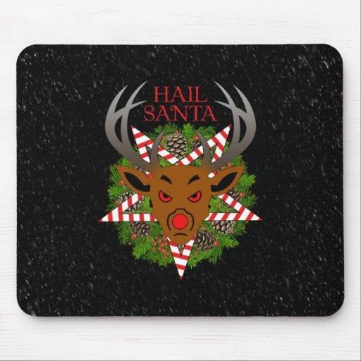 Hail Santa Mouse Pads