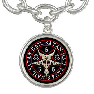 Hail Satan Baphomet Goat in Pentagram