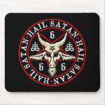 Hail Satan Baphomet Goat in Pentagram Mouse Pad