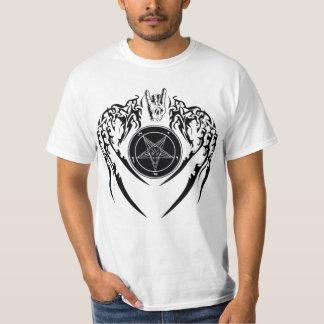 Hail Satan Baphomet  Horns and Wings T-Shirt