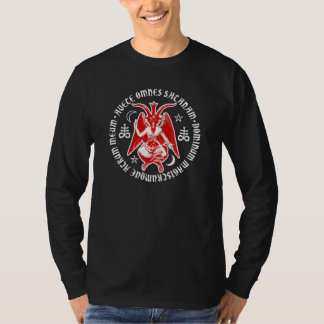Hail Satan Baphomet with Satanic Crosses T-Shirt