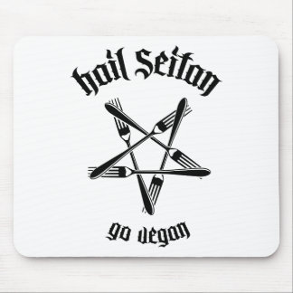 Hail Seitan 1.1 (black) Mouse Pad