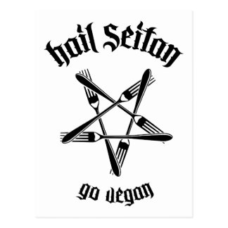 Hail Seitan 1.1 (black) Postcard
