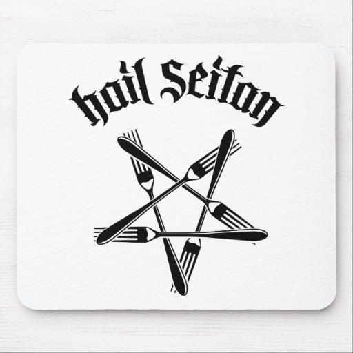 Hail Seitan 1.2 (black) Mouse Pads