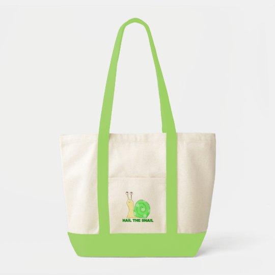 Hail the snail tote bag