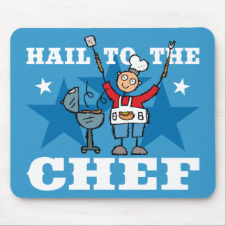 Hail To The BBQ Chef Mouse Pad
