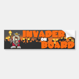Hail to the King - Invader on Board Bumper Sticker