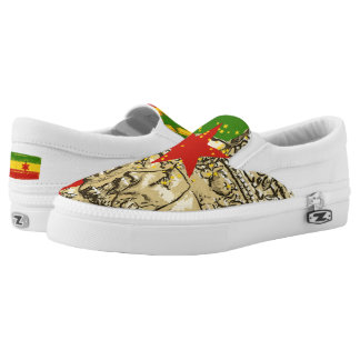 Haile Selassie Empress Menen Loafer Rasta Shoes