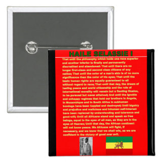 Haile Selassie Famous War Speech to UN 1963 15 Cm Square Badge