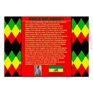 Haile Selassie Famous War Speech to UN 1963 Card