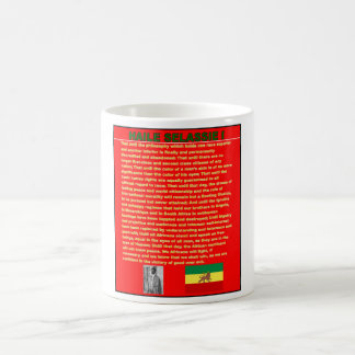 Haile Selassie Famous War Speech to UN 1963 Coffee Mug