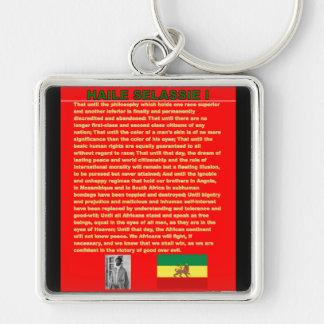 Haile Selassie Famous War Speech to UN 1963 Keychains