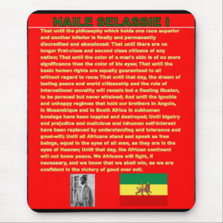 Haile Selassie Famous War Speech to UN 1963 Mouse Mat