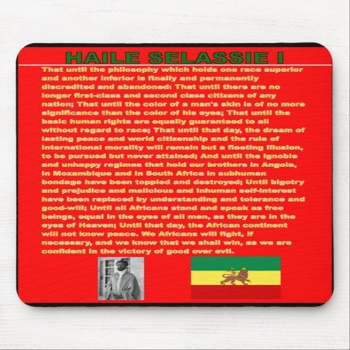 Haile Selassie Famous War Speech to UN 1963 Mousepad