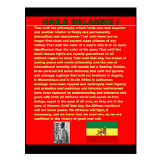 Haile Selassie Famous War Speech to UN 1963 Postcard