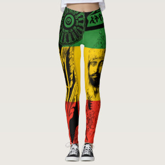 Haile Selassie Leggings Lion of Judah Design
