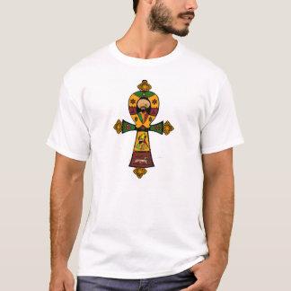 Haile Selassie Rasta Reggae Ethiopia Jamaica Ankh T-Shirt