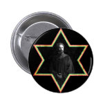 Haile Selassie Star of David 6 Cm Round Badge