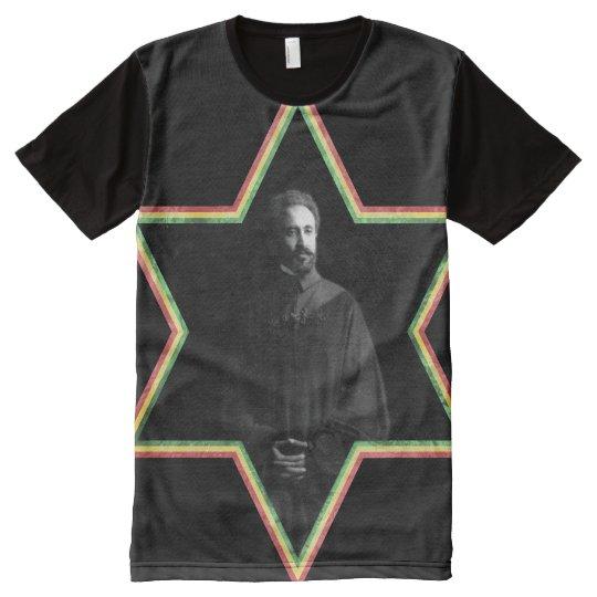 Haile Selassie Star of David All-Over Print T-Shirt