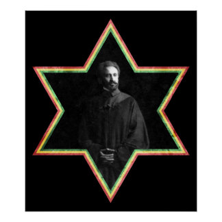 Haile Selassie Star of David Poster