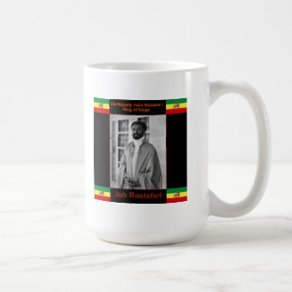 Haile Selassie the Lion of Judah, Jah Rastafari Coffee Mug