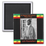 Haile Selassie the Lion of Judah, Jah Rastafari Magnets