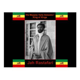 Haile Selassie the Lion of Judah, Jah Rastafari Postcard