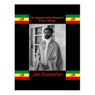 Haile Selassie the Lion of Judah, Jah Rastafari Postcard