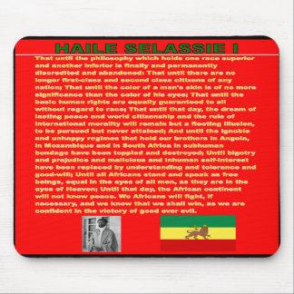 Haile Selassie's War Speech to UN 1963 - Marley So Mousepad