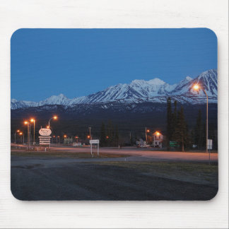 Haines Junction in Canada to the blue hour Mouse Pad