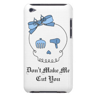 Hair Accessory Skull (Bow Detail - Blue) Case-Mate iPod Touch Case