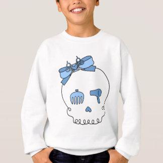 Hair Accessory Skull (Bow Detail - Blue) Sweatshirt