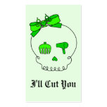 Hair Accessory Skull (Bow Detail - Lime Green #2)