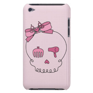 Hair Accessory Skull (Bow Detail Pink Background) iPod Touch Cases