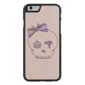 Hair Accessory Skull (Bow Detail Purple #2) Carved® Maple iPhone 6 Case