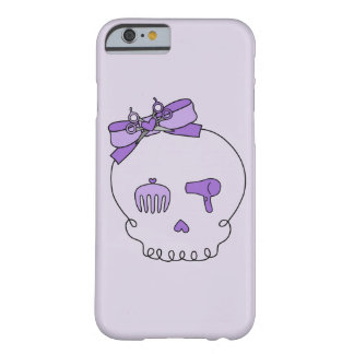 Hair Accessory Skull (Bow Detail Purple #2) Barely There iPhone 6 Case