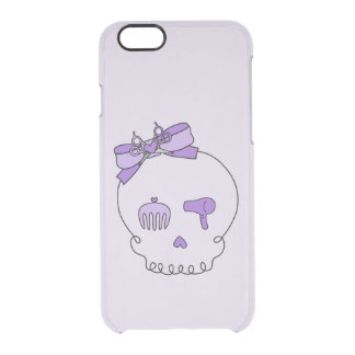 Hair Accessory Skull (Bow Detail Purple #2) iPhone 6 Plus Case