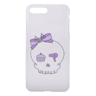 Hair Accessory Skull (Bow Detail Purple #2) iPhone 7 Plus Case