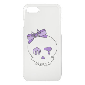 Hair Accessory Skull (Bow Detail Purple) iPhone 7 Case