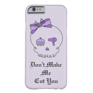 Hair Accessory Skull (Bow Detail Purple w/ Text 2) Barely There iPhone 6 Case